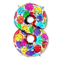 Цифра 8 Разноцветная