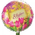 """Круг """"8 марта"""" тюльпаны и мимозы"""